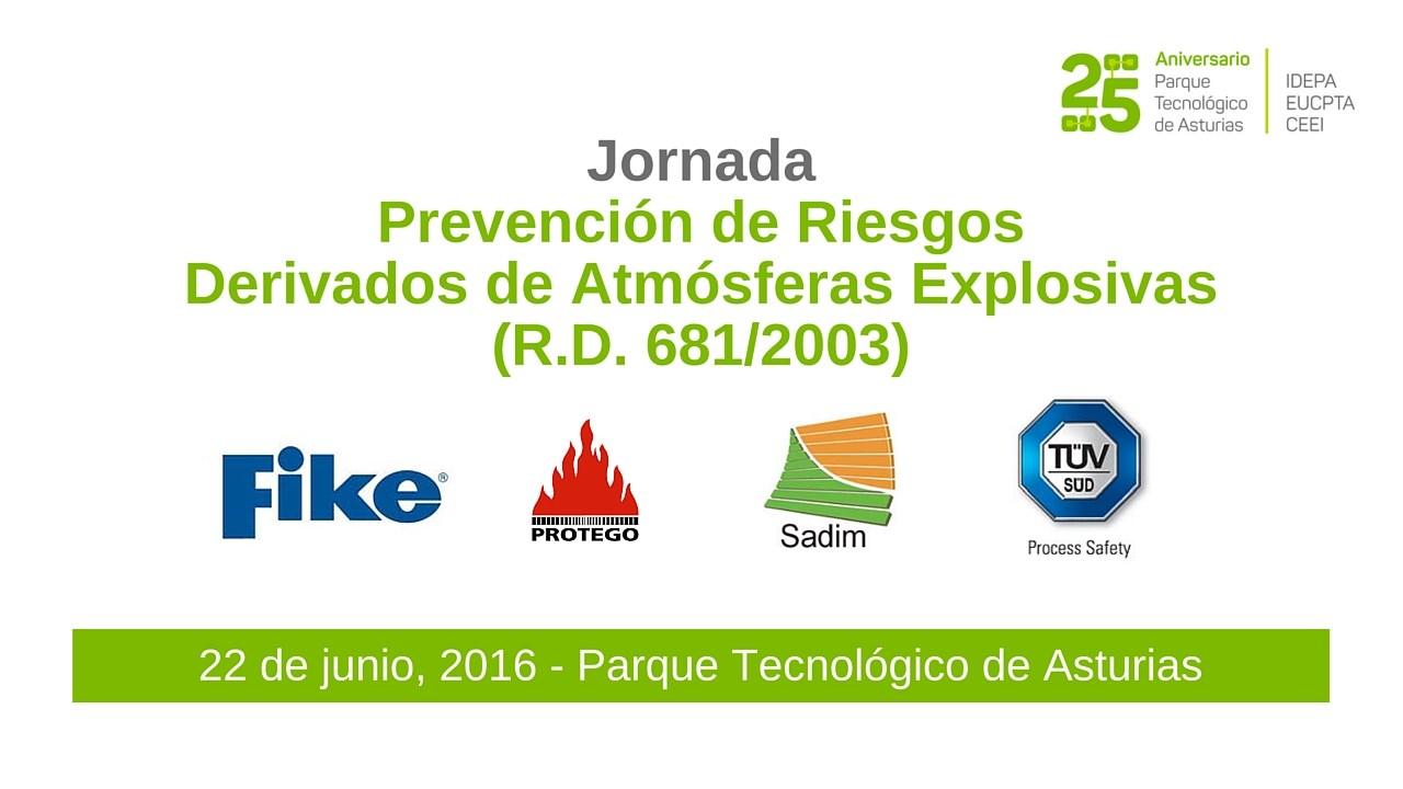 Jornada Prevención de Riesgos Derivados de Atmósferas Explosivas
