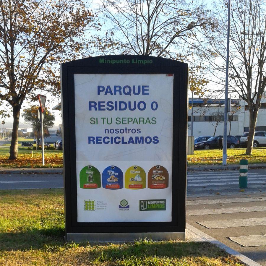 minipunto limpio del Parque Tecnológico de Asturias