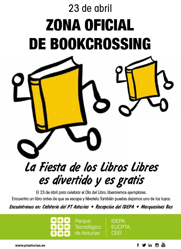cartel BookCrossing PTAsturias