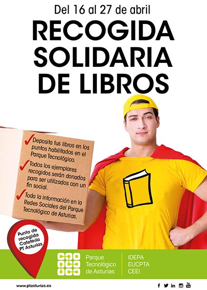 recogida solidaria de libros ptasturias 2018