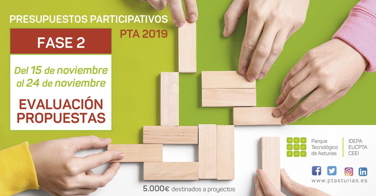Fase de Evaluación Propuestas Presupuestos Participativos PT Asturias 2019
