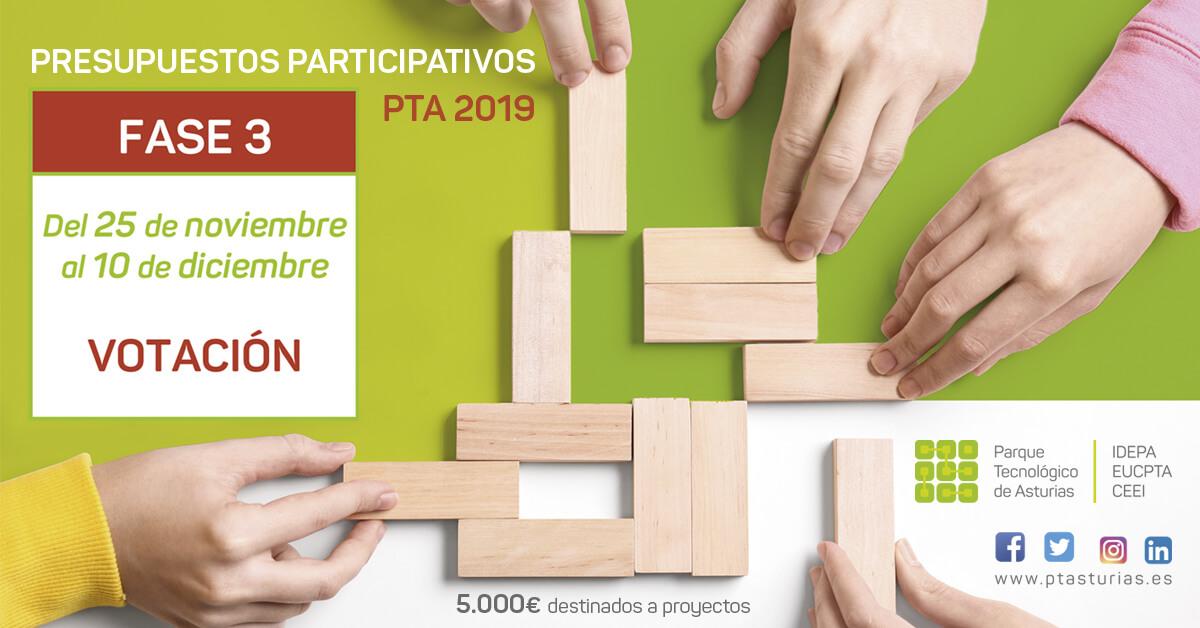 Fase de Votación Propuestas Presupuestos Participativos PT Asturias 2019