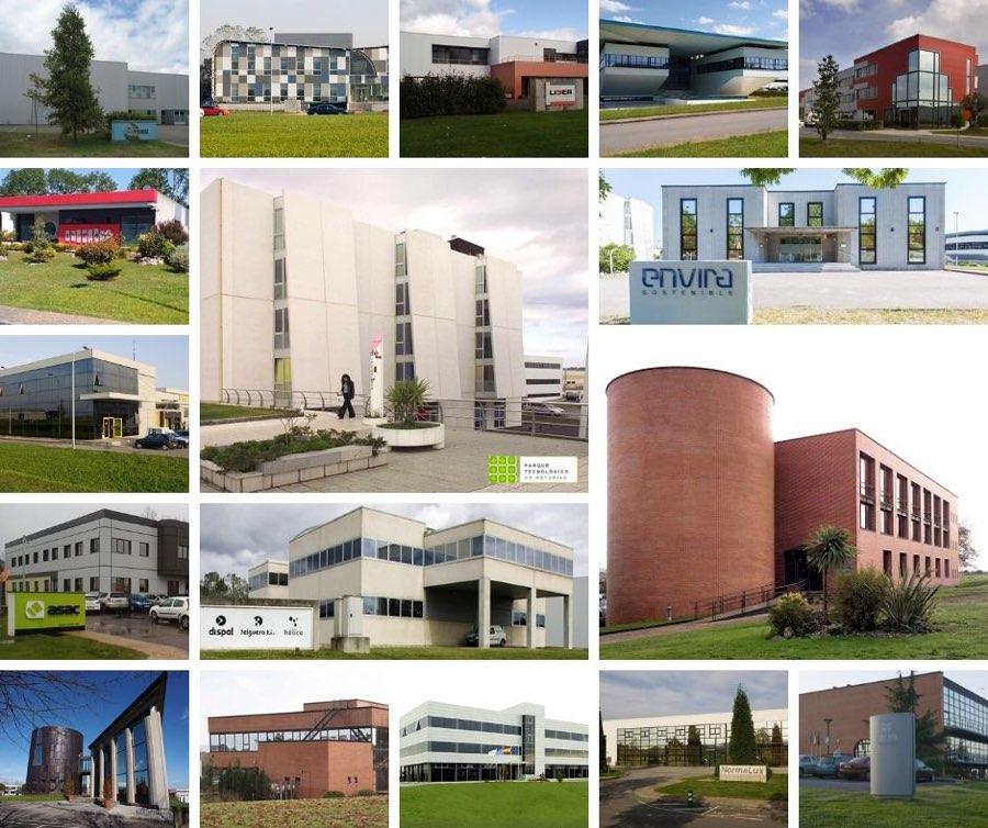 Empresas instaladas en el Parque Tecnológico de Asturias en 2019