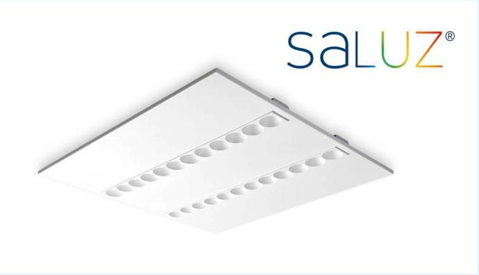 Luminaria Luzerna Avant para techos modulares con tecnología SaLuz® de Normagrup